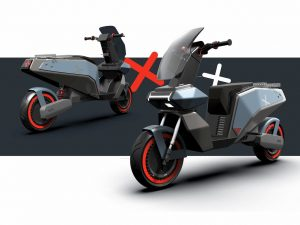 XScoot electric scooter front by Rugved Patil