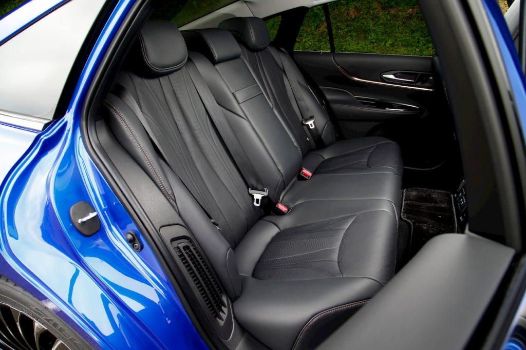2021 Toyota Mirai rear seats interior