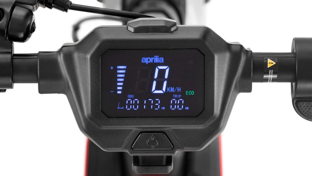 Aprilia eSR1 instrument cluster LCD display