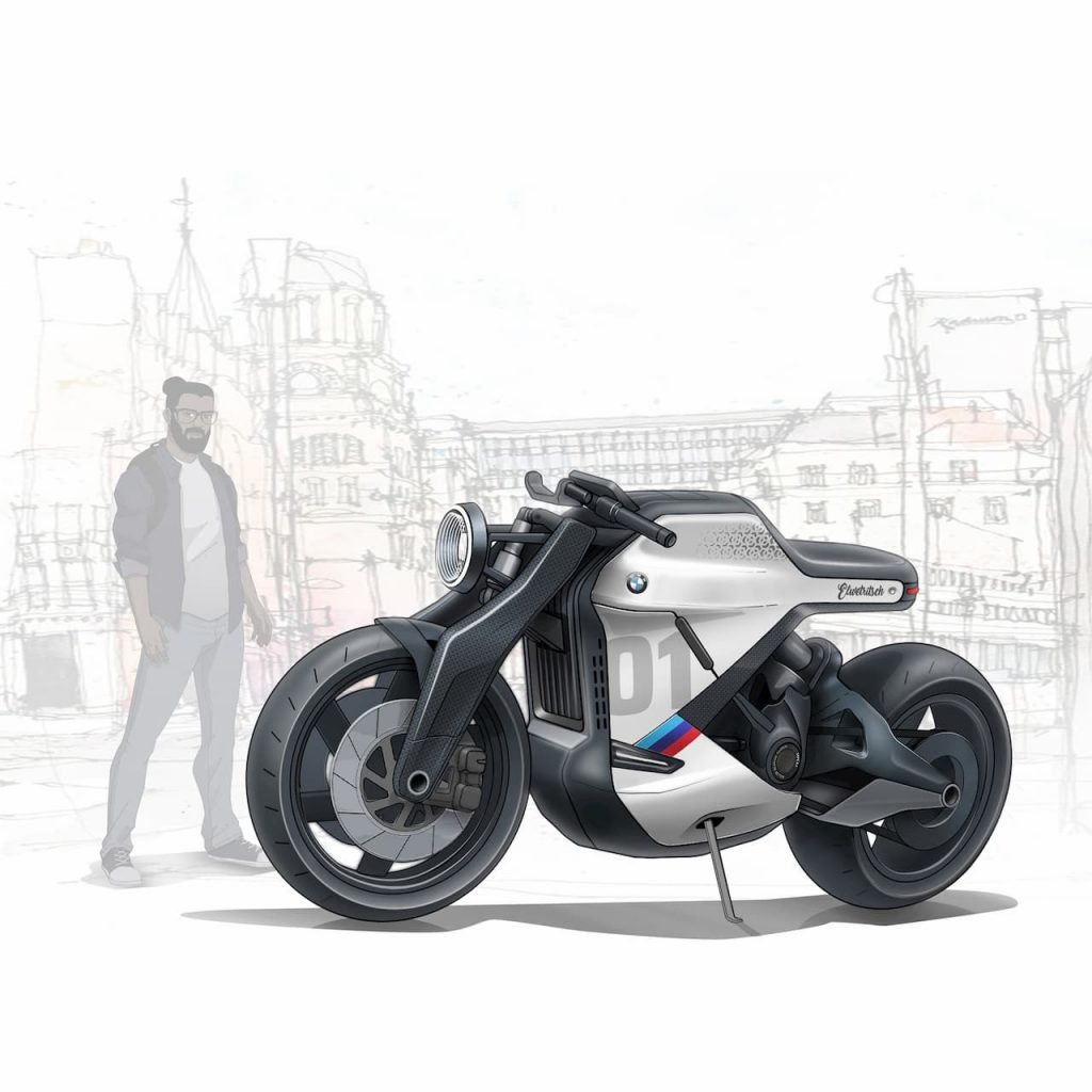 BMW electric motorcycle concept from India