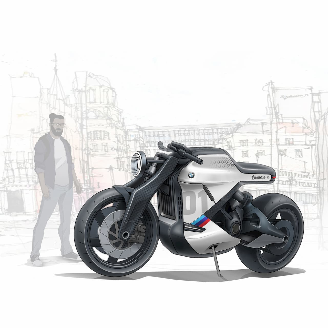 Indian Designer S Bmw Electric Cafe Racer Is A Time Traveler From 2030
