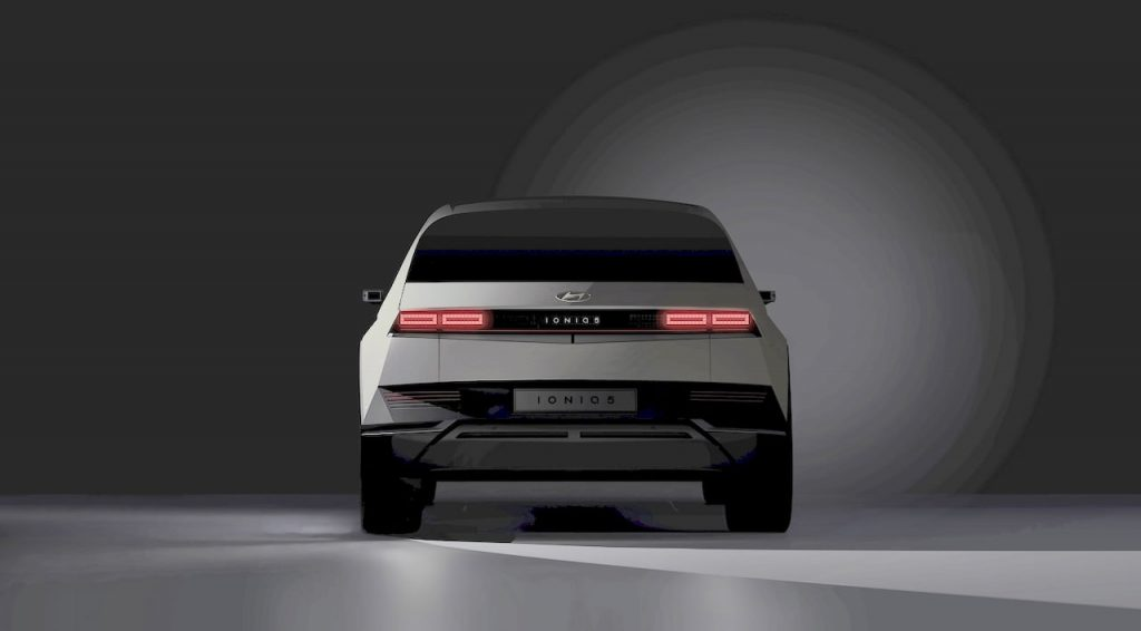Hyundai Ioniq 5 rear teaser