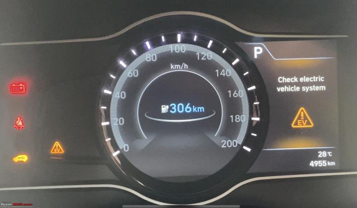 Hyundai Kona EV instrument cluster India breakdown