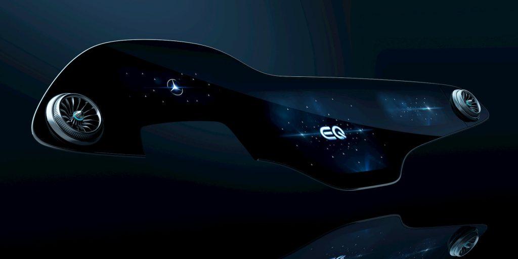 Mercedes EQS dashboard interior MBUX Hyperscreen