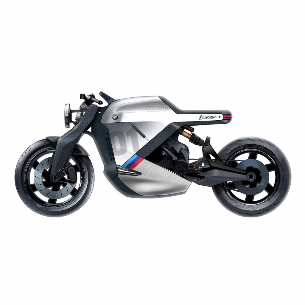 Side view BMW electric motorcycle concept from India