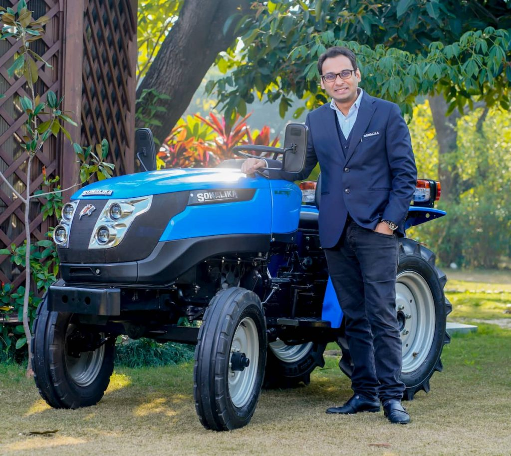 Sonalika Tiger Electric tractor front three quarters