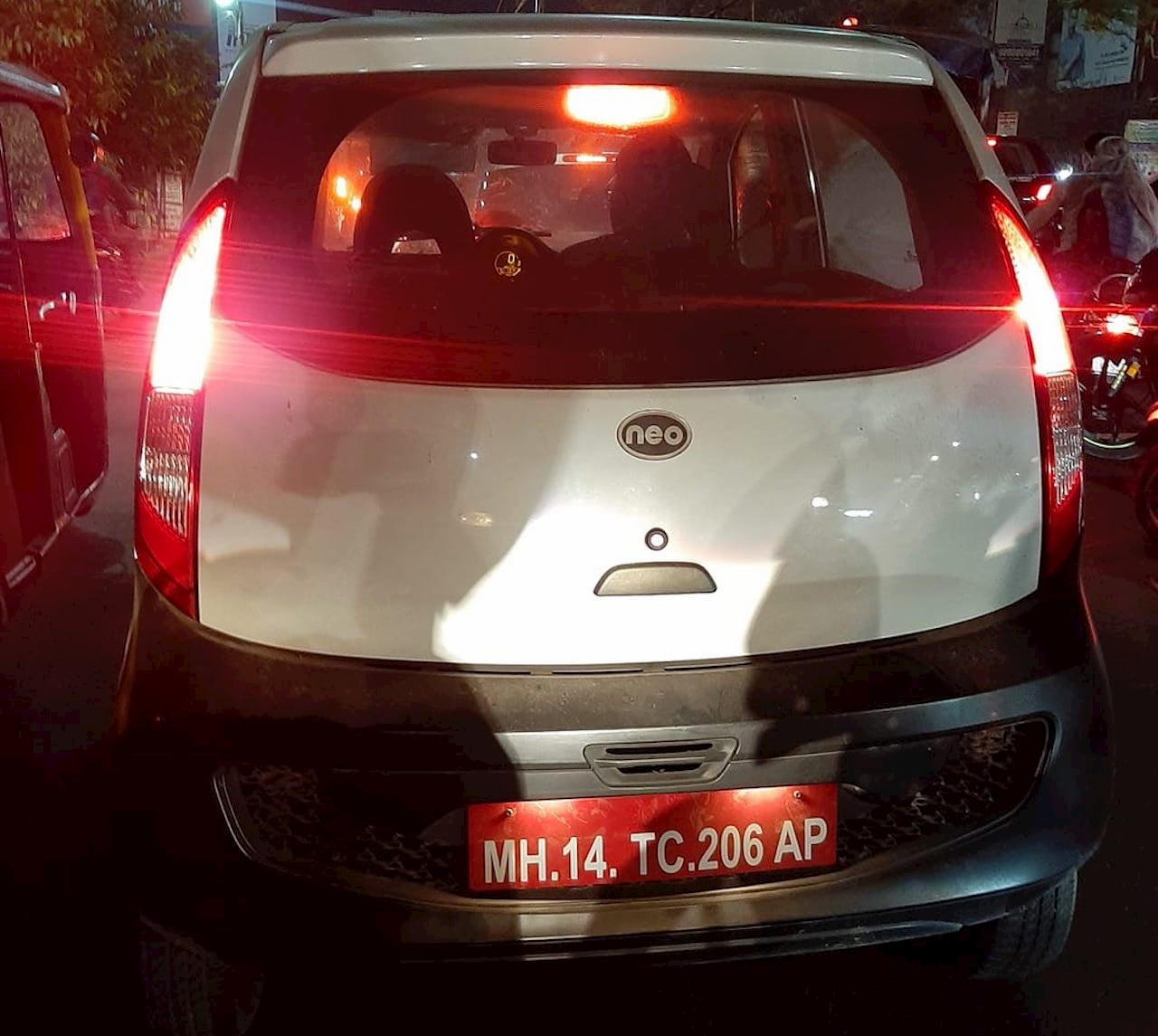 Tata Nano EV Jayem Neo rear spy shot