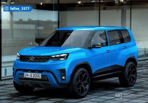 Tata Sierra 2023 render Praveen John production model