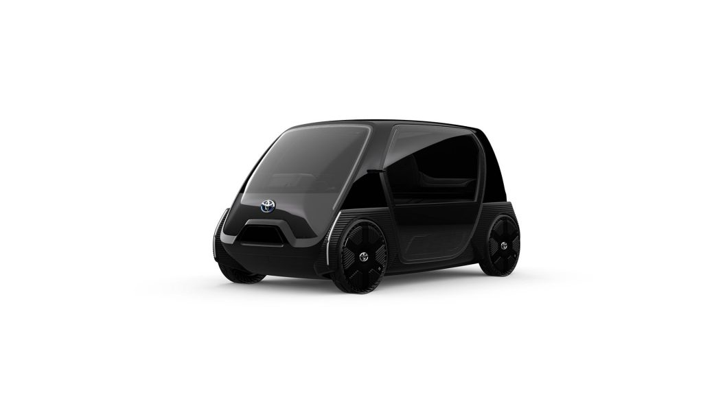 Toyota Ultra-compact BEV business concept front quarters