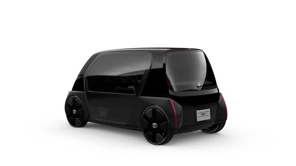 Toyota Ultra-compact BEV business concept rear quarters