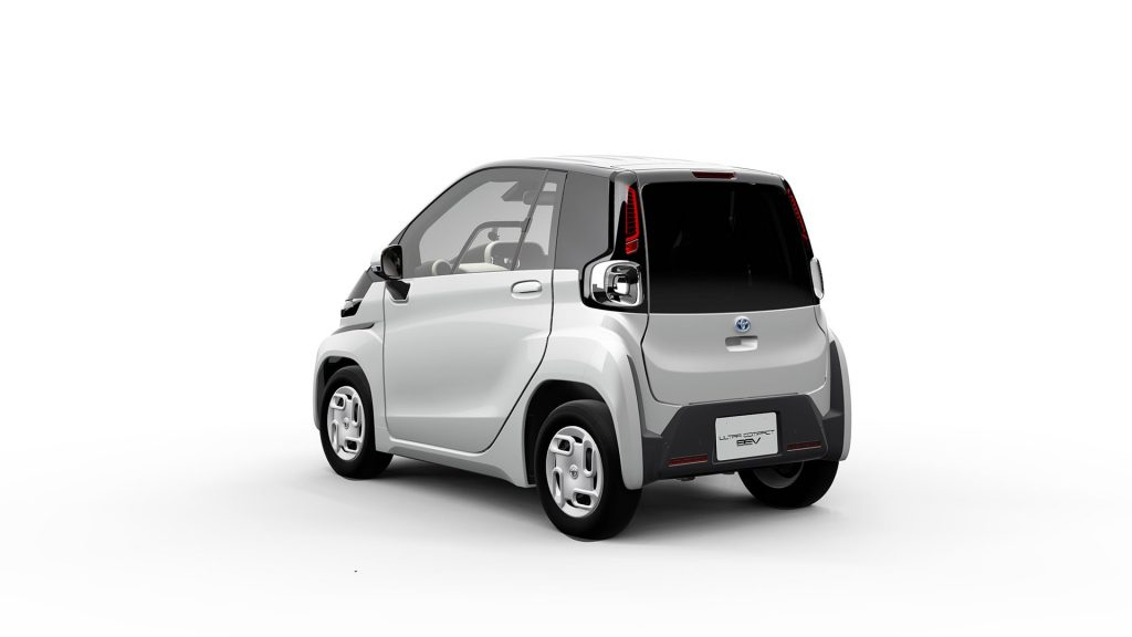 Toyota electric microcar (Toyota Ultra-compact BEV) rear quarters