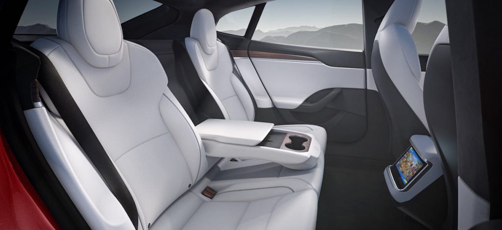 2021 Tesla Model S facelift rear seats interior