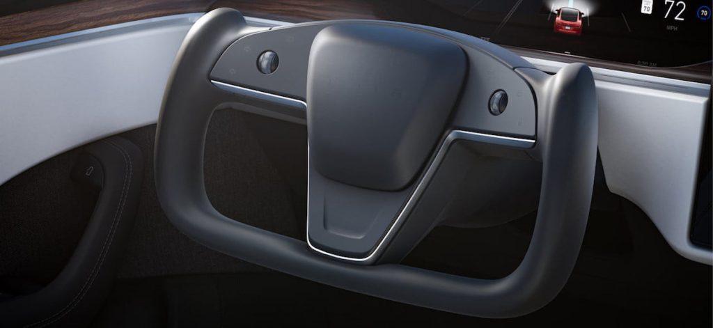 2021 Tesla Model S facelift steering