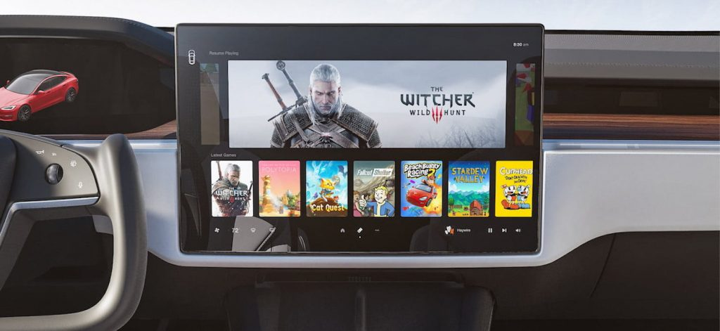 2021 Tesla Model S facelift touchscreen infotainment system