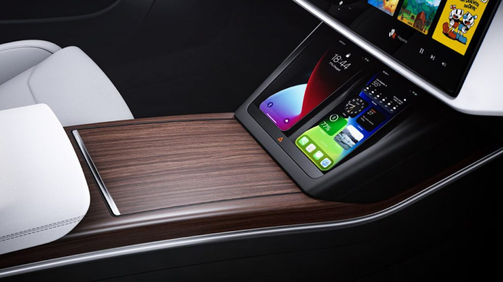 2021 Tesla Model S facelift wirelesss mobile charger