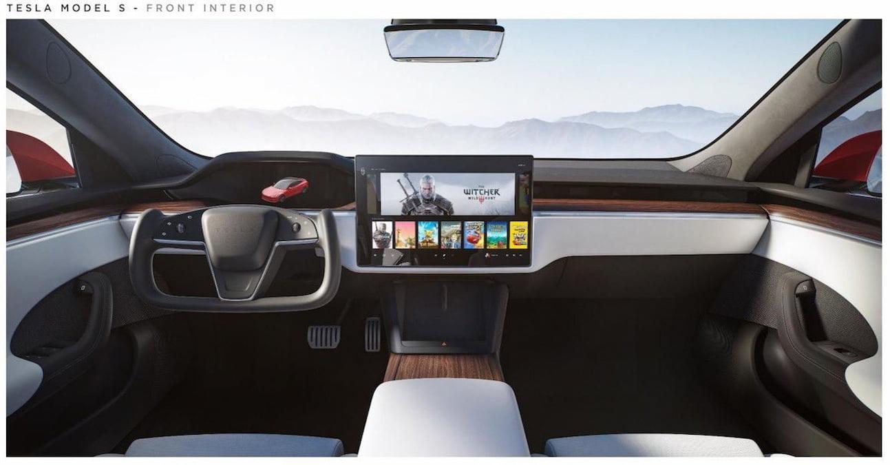 2021 Tesla Model S interior dashboard 2022