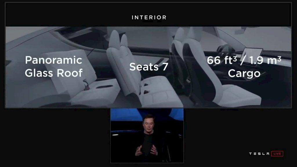 7-seat Tesla Model Y interior third row seats