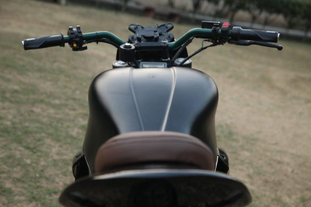 M2 electric bike rear view