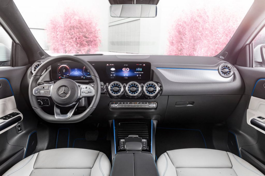 Mercedes EQA interior dashboard