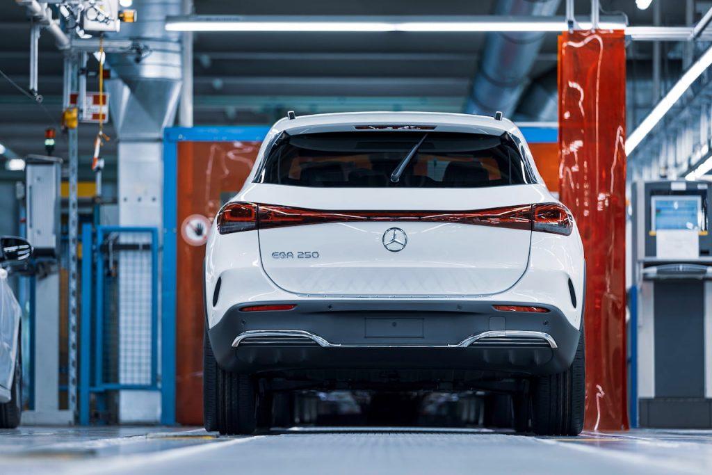 Mercedes EQA rear production Rastatt