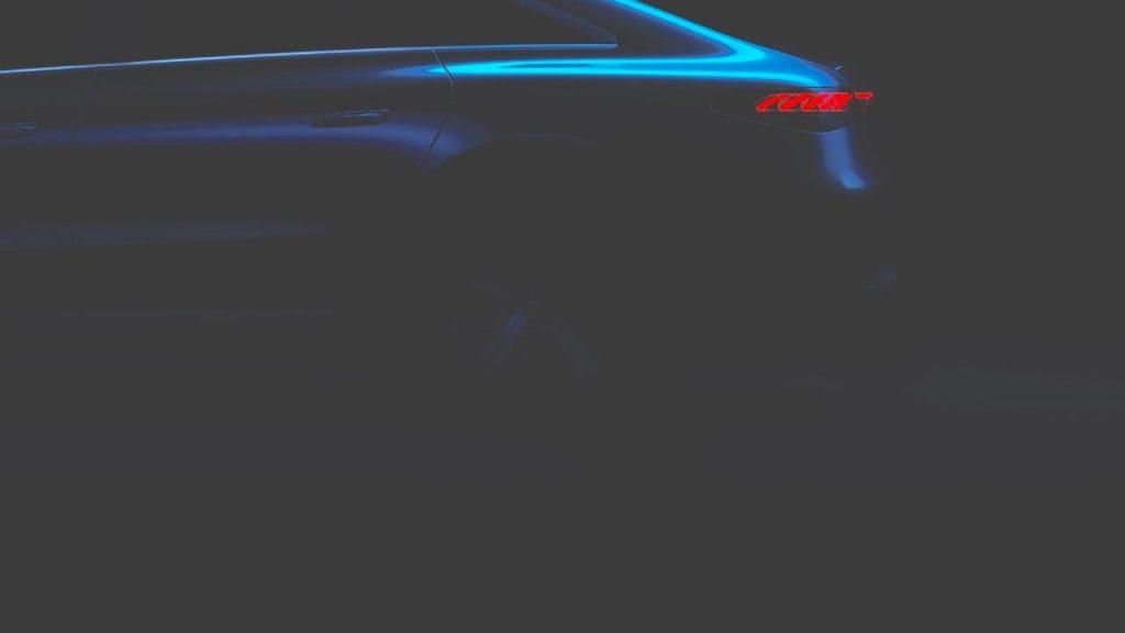 Mercedes EQS rear wheel teaser