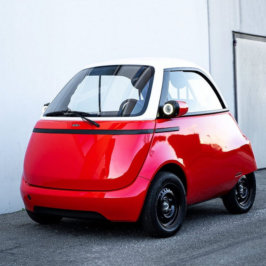 Micro Mobility Microlino 2.0 front three quarters
