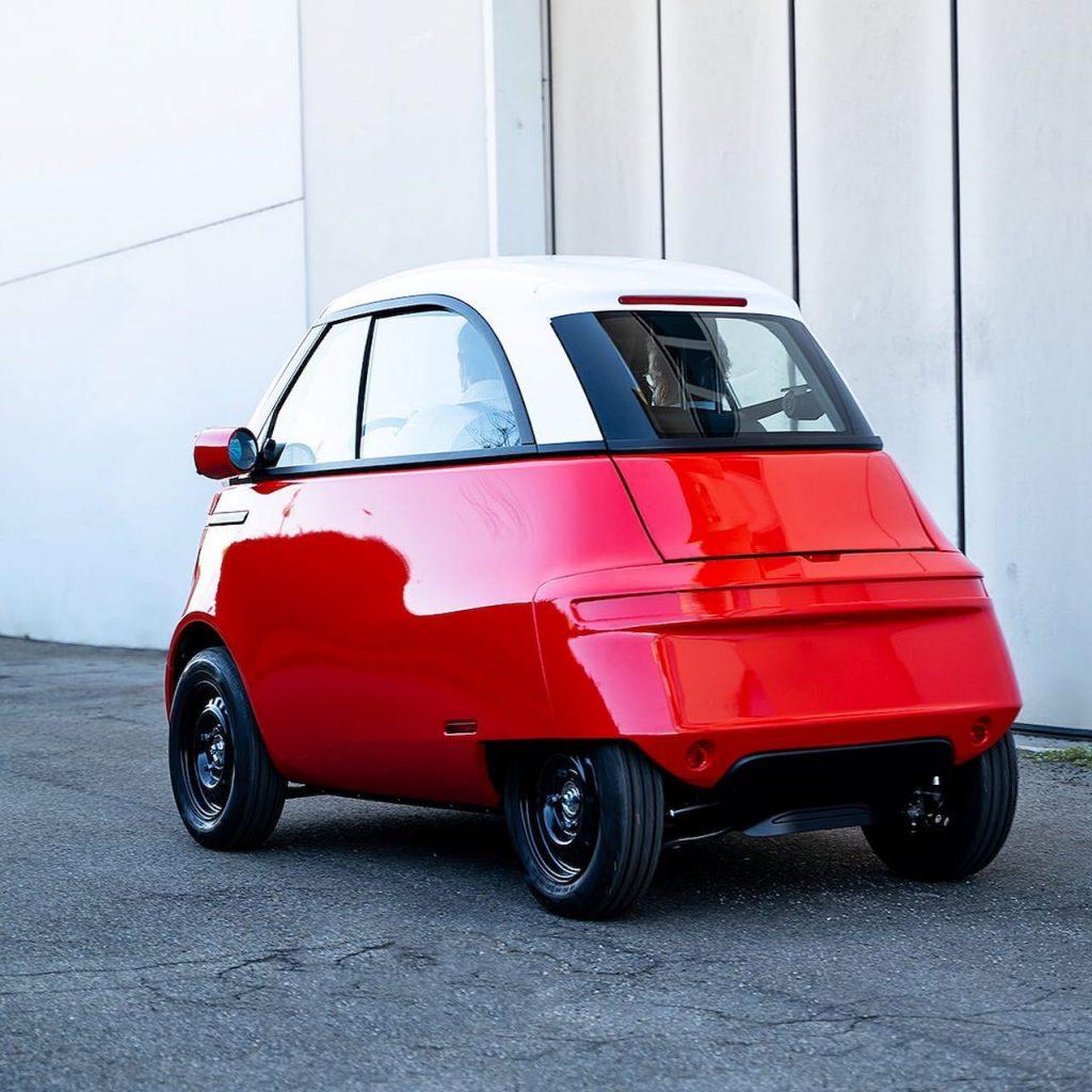 Micro Mobility Microlino 2.0 rear three quarters