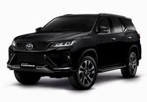 New Toyota Fortuner Legender black front quarters
