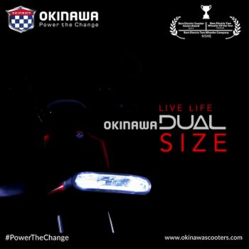 Okinawa Dual electric scooter teased, to be unveiled this month