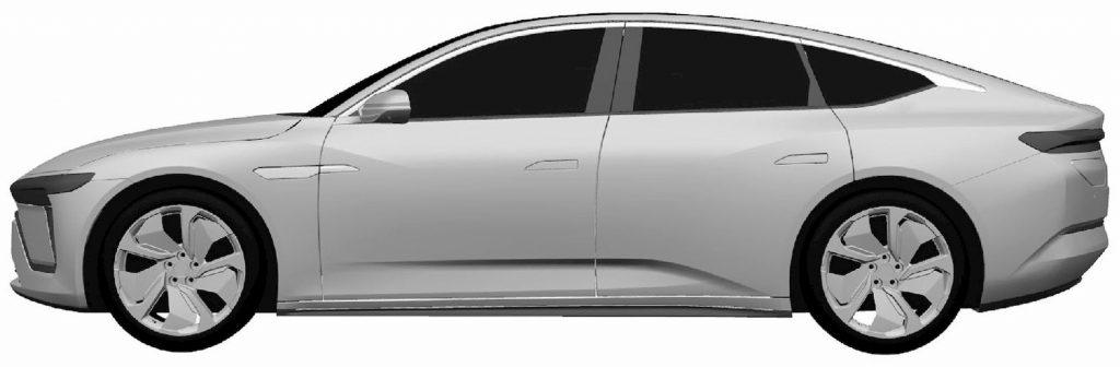 Production Nio sedan profile