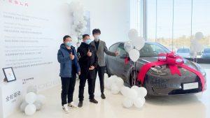 Tesla Model Y delivery grey