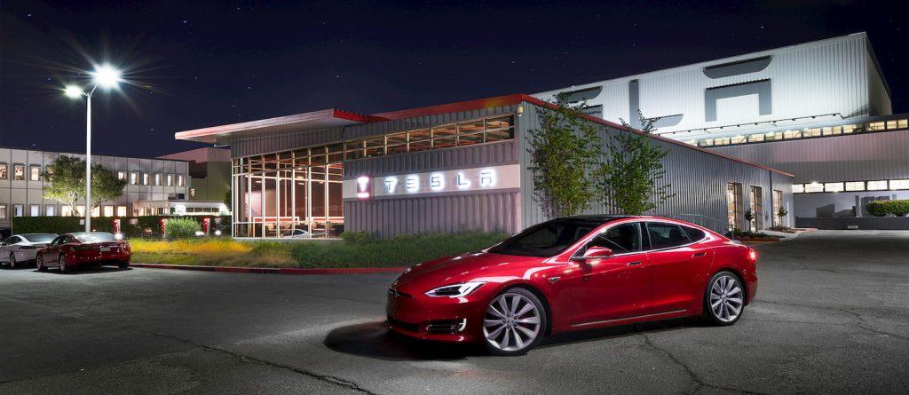 Tesla showroom Fremont factory Tesla Model S