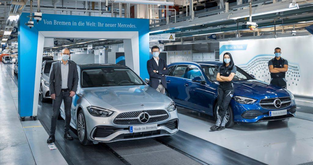 2021 Mercedes C-Class Bremen production commencement