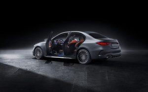 2021 Mercedes C-Class W206 doors open