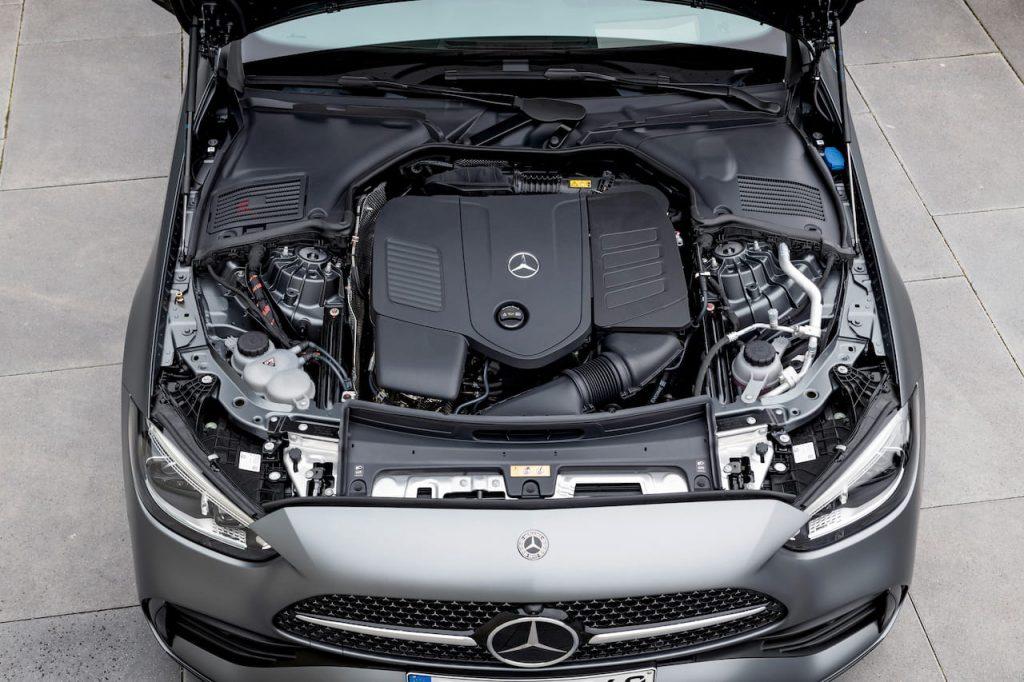 Mercedes engine bay