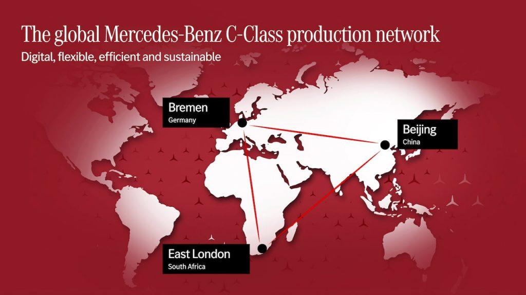 2021 Mercedes C-Class production sites