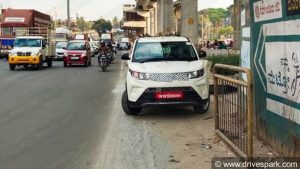 Base Mahindra eKUV100 front spy shot