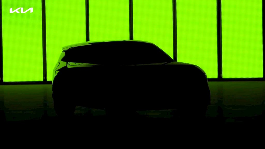 Kia electric car teaser compact crossover