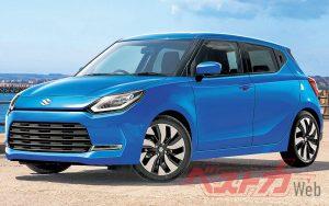 Next-gen Suzuki Swift 2022 rendering