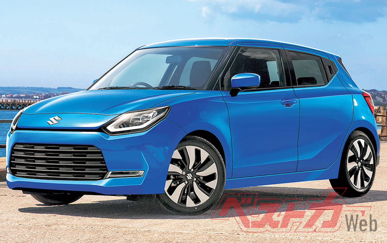 Next-gen Suzuki Swift 2022 rendering