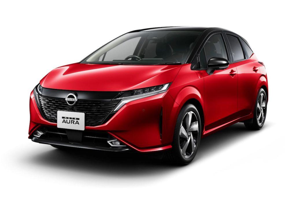 Nissan Note Aura front three quarters