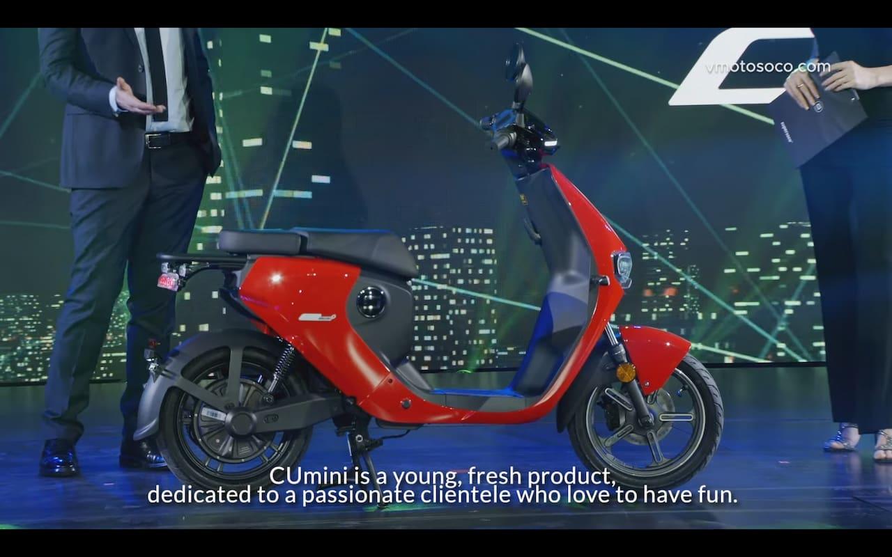 Super Soco CUmini electric scooter side
