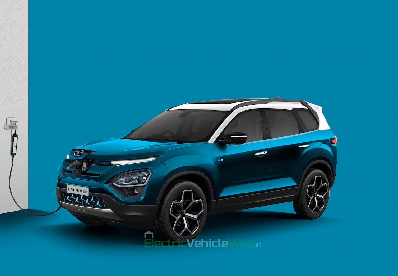 Tata Safari EV rendering
