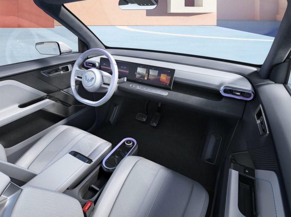 2021 Wuling Mini EV Convertible interior