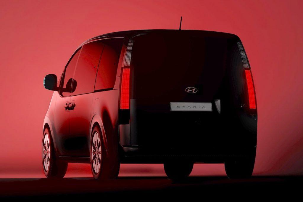 Hyundai Staria (New Hyundai H1 2021) tail light teaser