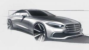 2021 Mercedes S Class sketch