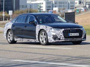 2022 Audi A8 facelift spied