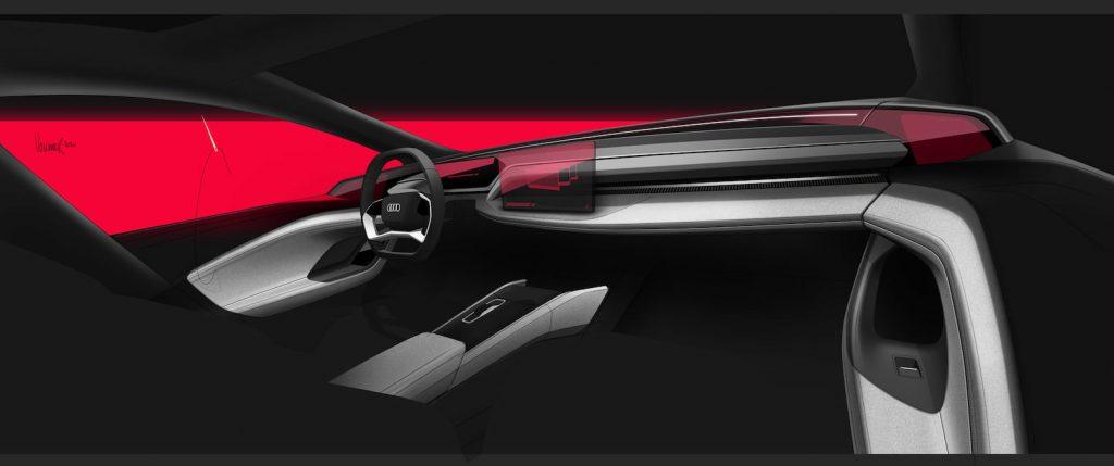 Audi A6 e-tron concept interior sketch