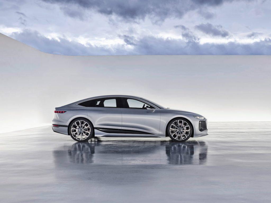 Audi A6 e-tron concept profile side