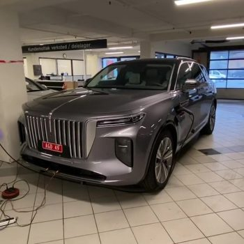 Hongqi E-HS9 electric SUV spotted at a dealership in Norway